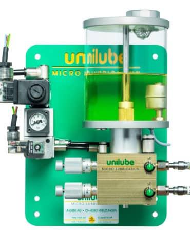 Zeigt ein Schmiersystem der Baureihe Ecolube 2D, für den Einsatz von Minimalmengenschmierung.