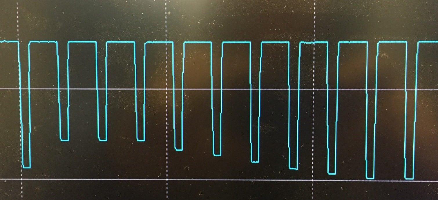 Zeigt ein Sensorsignal welches Aufschluss über die exakte Fördermenge eines Unilube MinimalSchmierSystems gibt.