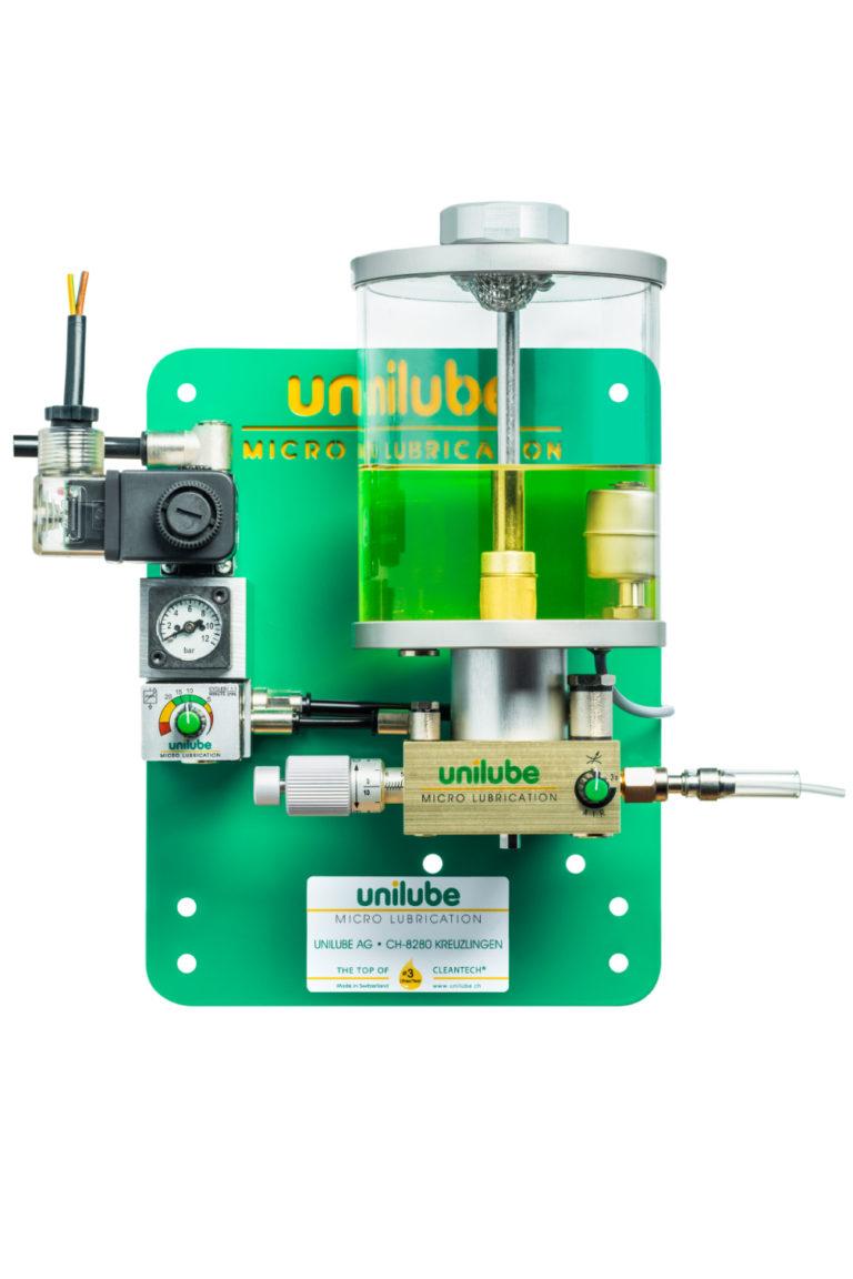 Zeigt ein Schmiersystem Ecolube 1D, für den Einsatz von Minimalmengenschmierung.