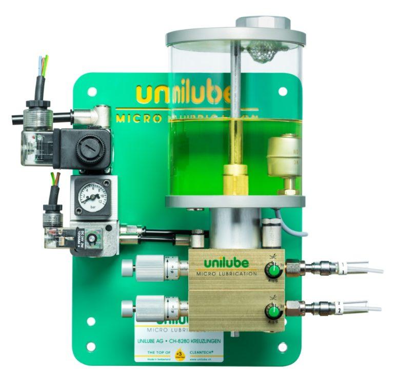 Zeigt ein Schmiersystem Ecolube 2D, für den Einsatz von Minimalmengenschmierung.